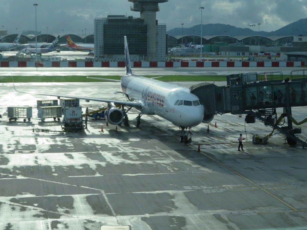 ダナンへの飛行機